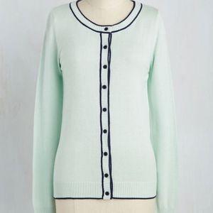 ModCloth mint button up cardigan size Large NWOT