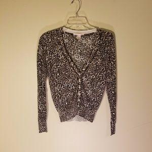 Victoria's Secret leopard print cardigan
