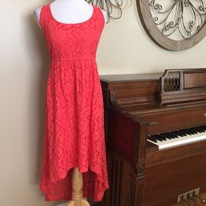 Torrid Size 16 High Low Coral Lace Dress
