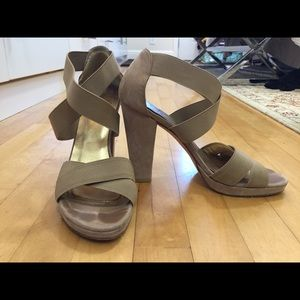Stuart Weitzman Beige Gladiator Heeled Sandal