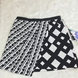Peter Pilotto for Target Black White Mini Skirt