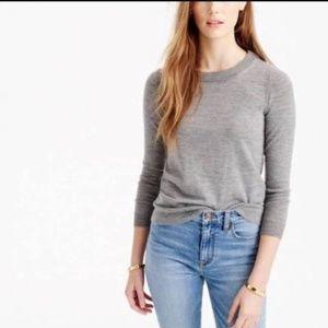 J. Crew Gray Tippi Merino Wool Sweater Fits Small