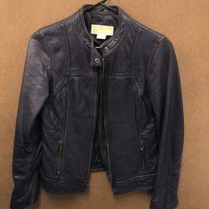 Michael Kors genuine Leather biker jacket