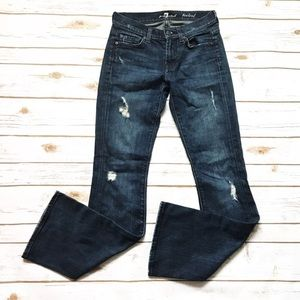 7FAM 7 for all mankind Bootcut destroyed Jeans