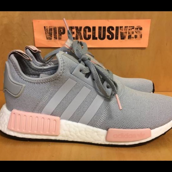 dd5e3e741b5500 adidas Shoes - Adidas NMD R1 Grey Vapour Pink Size 7