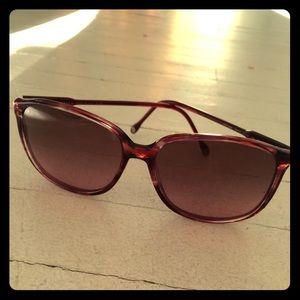 Vintage 70's Versace maroon sunglasses