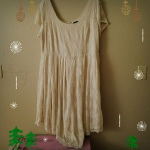 Torrid Vintage Inspired Cream Lace Dress 22w