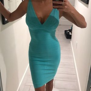 Dresses & Skirts - Blue bandage dress XS