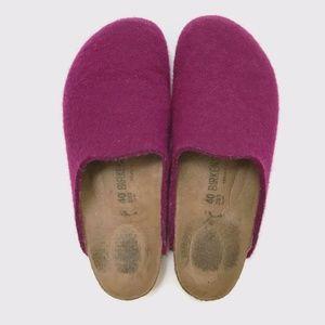 Birkenstock Amsterdam Felt Purple Clogs 40