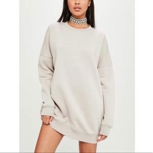 CARLIBYBEL X MISSGUIDED sweatshirt dress