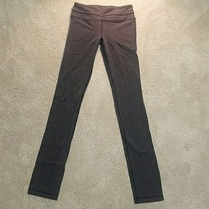 Lululemon wunder under grey pants full length