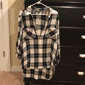 Express plaid button up shirt. NWT