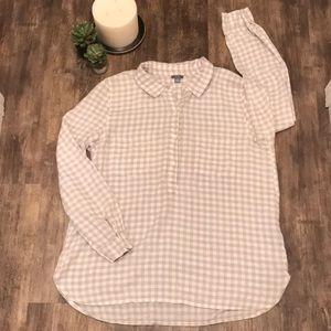 AERIE✨ super soft plaid flannel top large