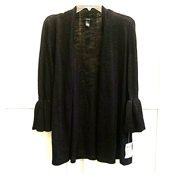 5051e16d53 Nwt Alfani Black Cardigan With Bell Sleeve