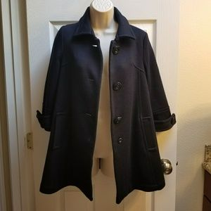 Forever 21 Navy Pea Coat