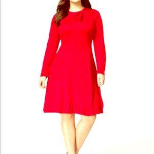 Jessica Howard Plus Size Sweater Dress with bow 1x