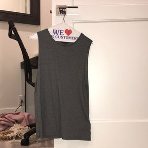 Gray cotton top shop tank