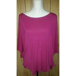 Mossimo Women's Plus size 2X Top Striped Batwing