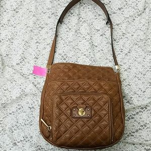Marc Jacobs camel quilted leather purse