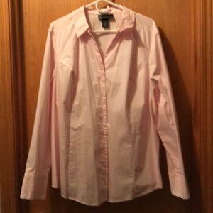 Lane Bryant pale pink blouse