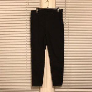 Black high-rise skinny jeans