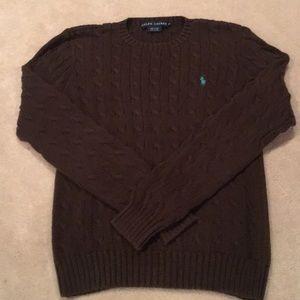 Ralph Lauren Brown Cotton Sweater