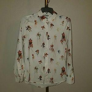 H&M orchid floral print shirt 2