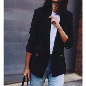 H&M long boyfriend blazer