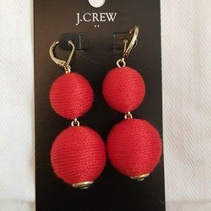 J. Crew Red Lantern Earrings
