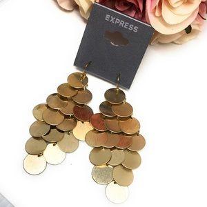 Brushed gold chandelier earrings