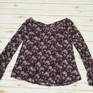 Lucky Brand // Long Sleeve Floral Blouse