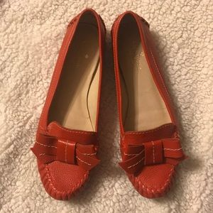 Kate Spade loafers with bow detail