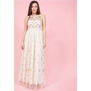 ModCloth Maxi Dress Bridal Floral Appliqués
