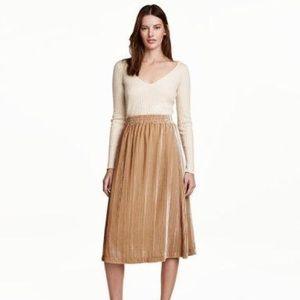 H & M velvet midi skirt! Never worn.