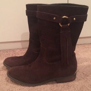 Michael Kors 7.5 Brown Suede Boots with Tassels
