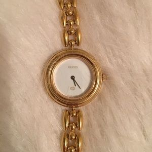 Vintage Gucci watch link gold needs battery