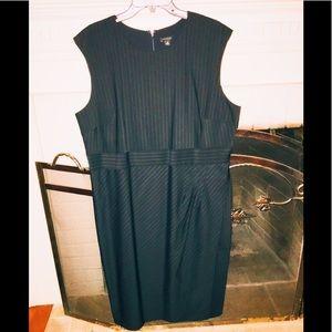 Pinstriped sheath dress