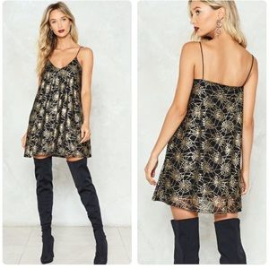 NWT NASTY GAL SPYDER WEB MINI BLACK DRESS 4