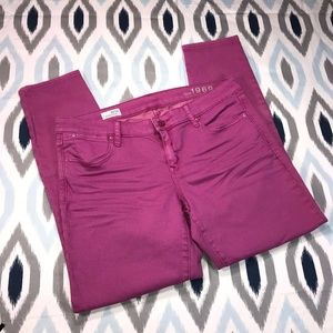 GAP Size 12 Pink Always Skinny Denim Jeans