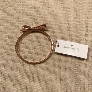 Large rose gold Kate Spade bow bangle