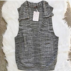 NWT Free People Dots & Dashed Sweater Tank