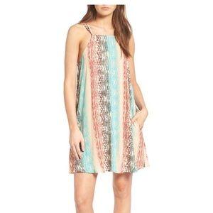 Mimi Chica Square Neck Strappy Shirt Dress Medium