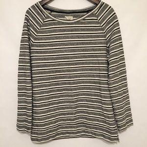 Lou & Grey Loft Black/Gray/White Sweater Size XL