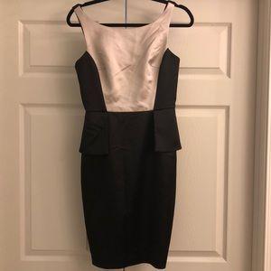 Maggie London satin peplum dress