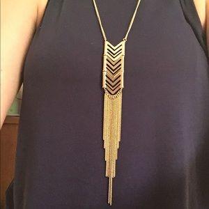 Chevron Necklace with Fringe