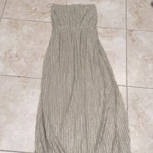 The limited gold maxi dress small