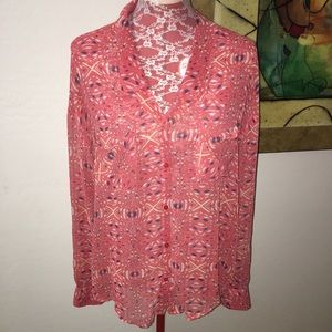 Free People Geo Print Top