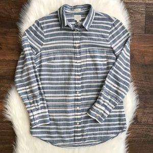 J.Crew Factory Striped Gauze Boy Shirt XS C3533 N1