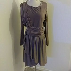 TOPSHOP - NWT dress taupe long sleeve