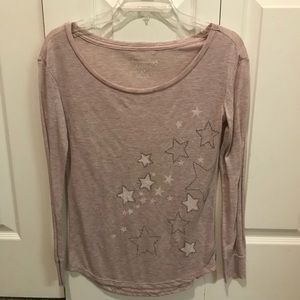 American Eagle Long Sleeve Star Top